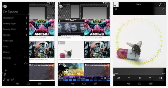 Música en el móvil desde Dropbox y Drive